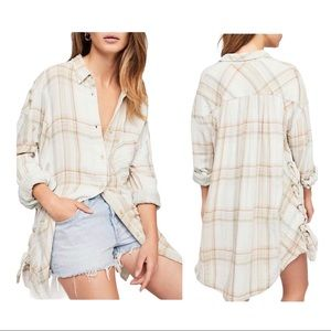 Free People Nordic Day Buttondown Top Size XS